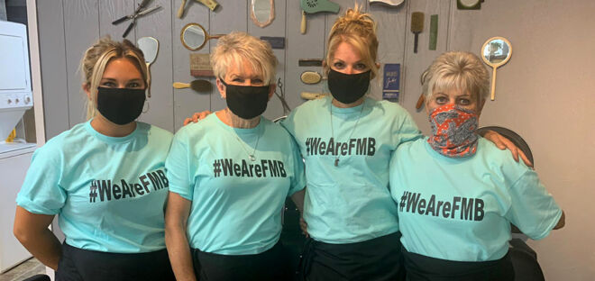 WeAreFMB-Ladies-in-masks-with-wearefmb-tshirts