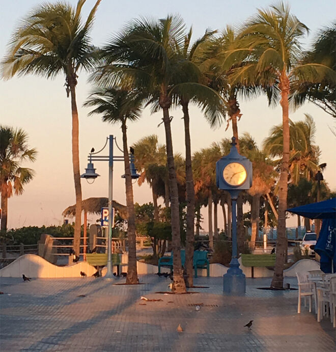 times square clock on fort myers beach2